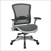 Office Star 317 Series Executive Breathable Mesh Back Chair in Silver