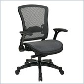 Office Star 317 Series Breathable Mesh Back Chair in Gunmetal