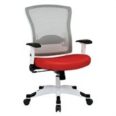 Office Star Pulsar White Frame Managers Chair in Red
