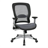 Office Star 327 Series Light Air Grid Back Chair in Black
