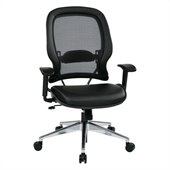 Office Star 335 Series Air Grid Back Chair with Eco Leather Seat