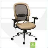 Office Star 335 Series Breathable Mesh Back Chair in Taupe