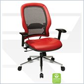 Office Star 335 Series Breathable Mesh Back Chair in Red