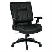 Office Star 93 Series Eco Leather Conference Chair in Black