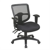 Office Star Ergonomic Task Chair with ProGrid Back in Coal
