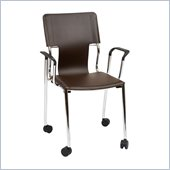 Office Star Dorado Desk Chair with Casters in Espresso