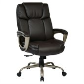 Office Star ECH Series Executive Eco Leather Chair in Espresso