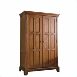 Riverside Furniture Crossings Computer Armoire in Fawn Cherry
