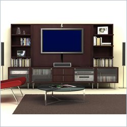 Nexera Liverpool Wood 4 Piece Entertainment Center in Espresso