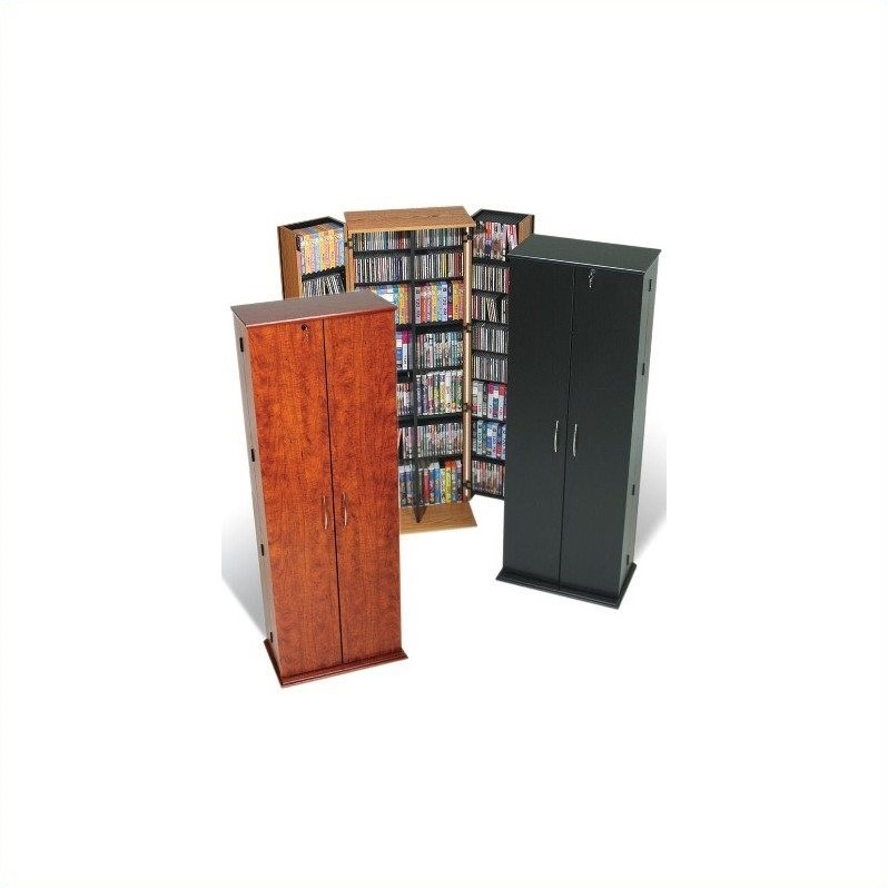 Prepac Grande Locking CD DVD Media Storage Cabinet in Oak at Sears.com