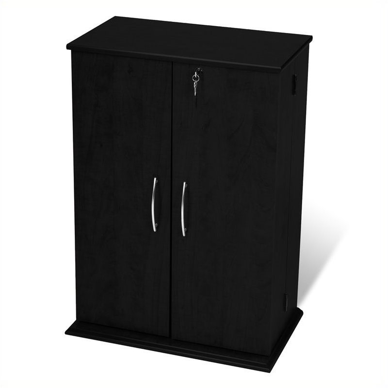 Prepac Locking CD DVD Media Storage Cabinet in Black at Sears.com