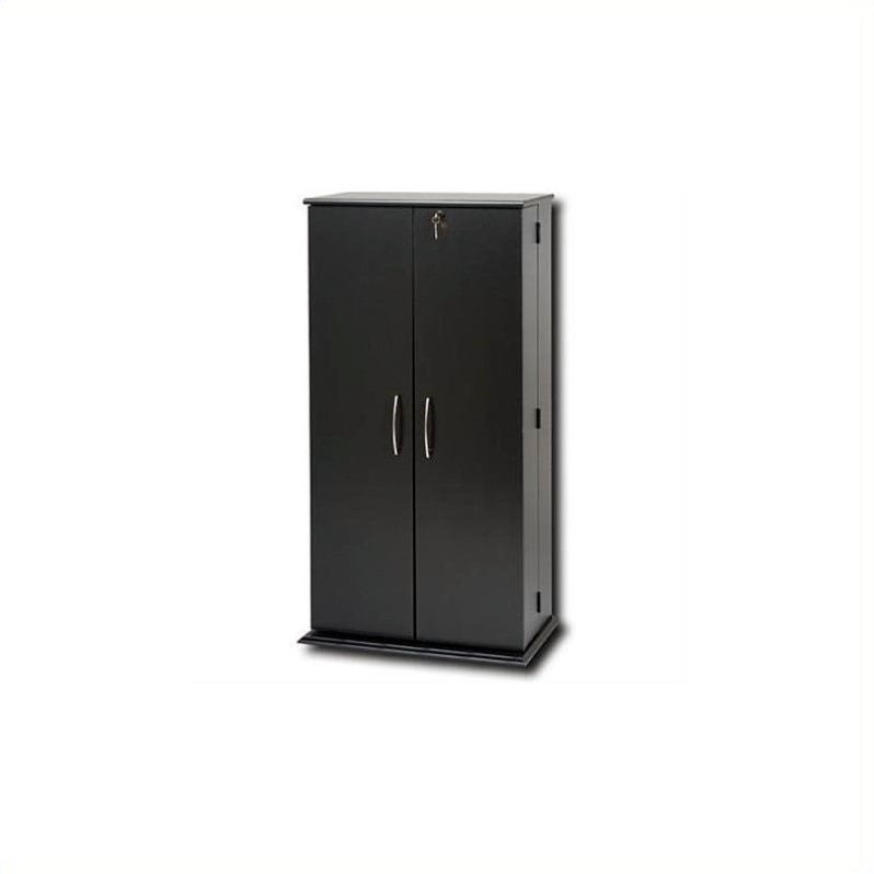 Prepac Tall Locking CD DVD Media Storage Cabinet in Black at Sears.com