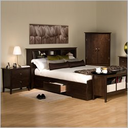 prepac manhattan platform storage bed