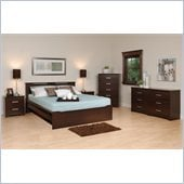 Prepac Coal Harbor 5-Piece Full / Double Bedroom Set in Espresso