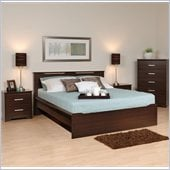 Prepac Coal Harbor 4-Piece Full / Double Bedroom Set in Espresso