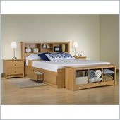 Prepac Sonoma 4-Piece Queen Bedroom Set in Maple