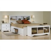 Prepac Monterey 4-Piece Queen Bedroom Set in White