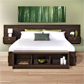 Prepac Series 9 Designer 2-Piece Bedroom Set in Espresso