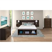 Prepac Series 9 Designer 4-Piece Bedroom Set in Espresso