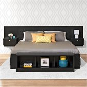 Prepac Series 9 Designer 2-Piece Bedroom Set in Black