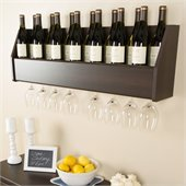 Prepac Floating Wine Rack in Espresso