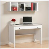 Prepac Desk and Hutch Set in White