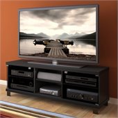 Sonax Hollow Core TV Stand and Component Bench in Midnight Black Finish