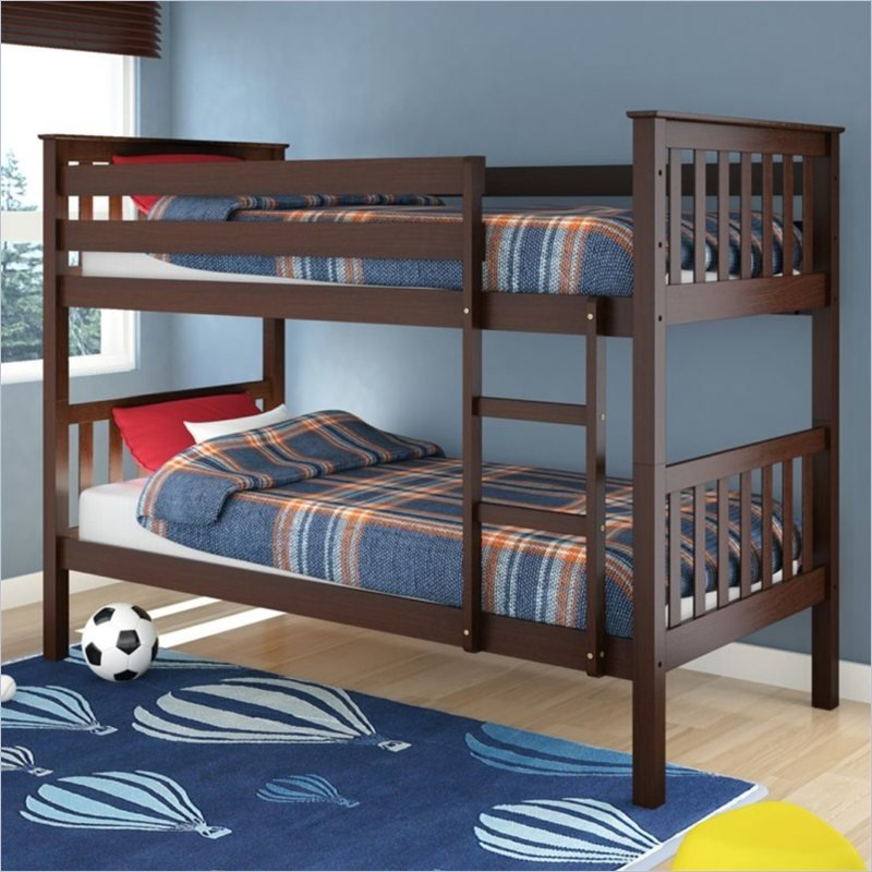 Sonax CorLiving Monterey Solid Wood Twin (Single) Bunk Bed in Espresso Brown at Sears.com