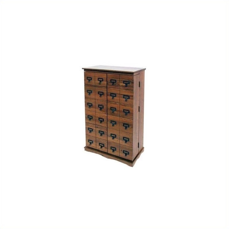 Leslie Dame Deep 2 Door CD,DVD Media Storage Cabinet in Dark Oak at Sears.com