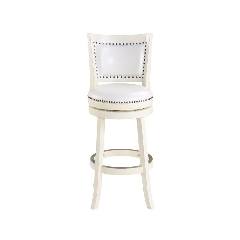 Boraam 29 Quot Bristol Swivel White Bar Stool Ebay