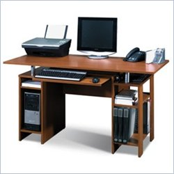 Bestar In Style Home Office Wood Computer Desk in Copper Cherry