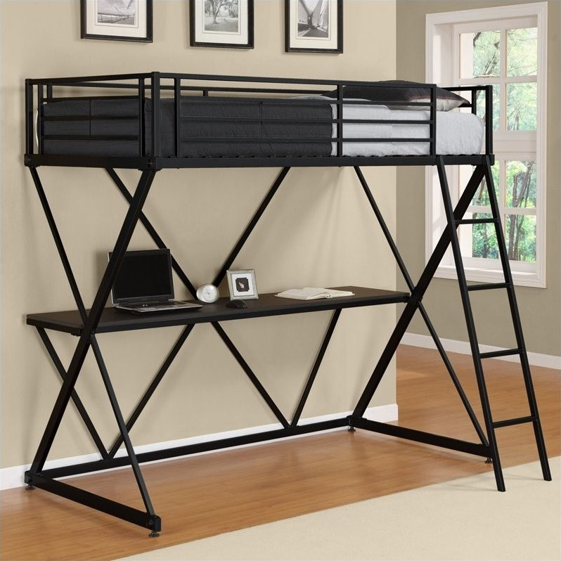 Metal wood beds house home Black bunk beds