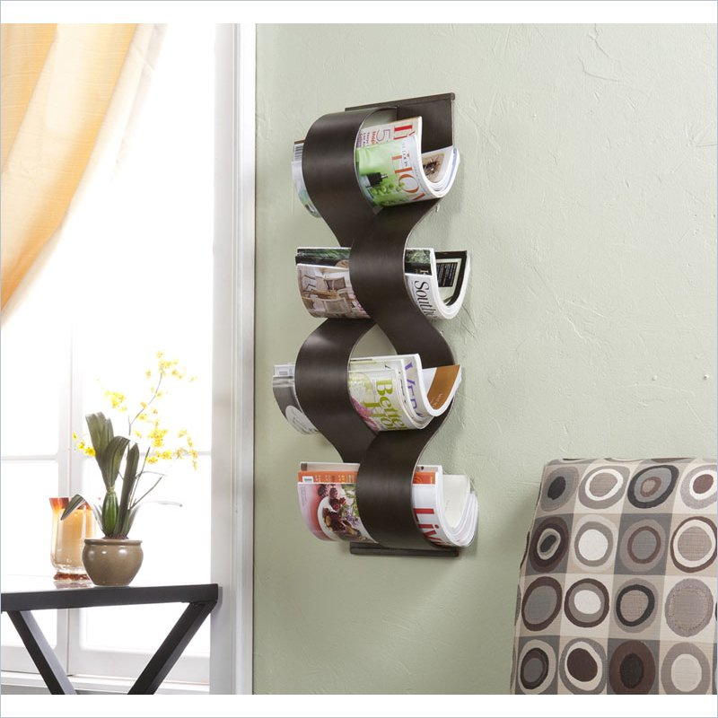 Holly and Martin Coastal Wall Mount Magazine Rack in Hand Painted Brown at Sears.com
