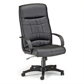 OFM Encore Leatherette High-Back Executive Chair in Black