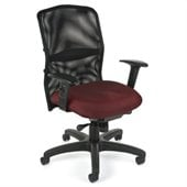OFM Airflo Executive Chair in Burgundy