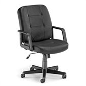 OFM Lo-Back Executive Leather Chair in Black