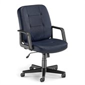 OFM Lo-Back Executive Leather Chair in Navy