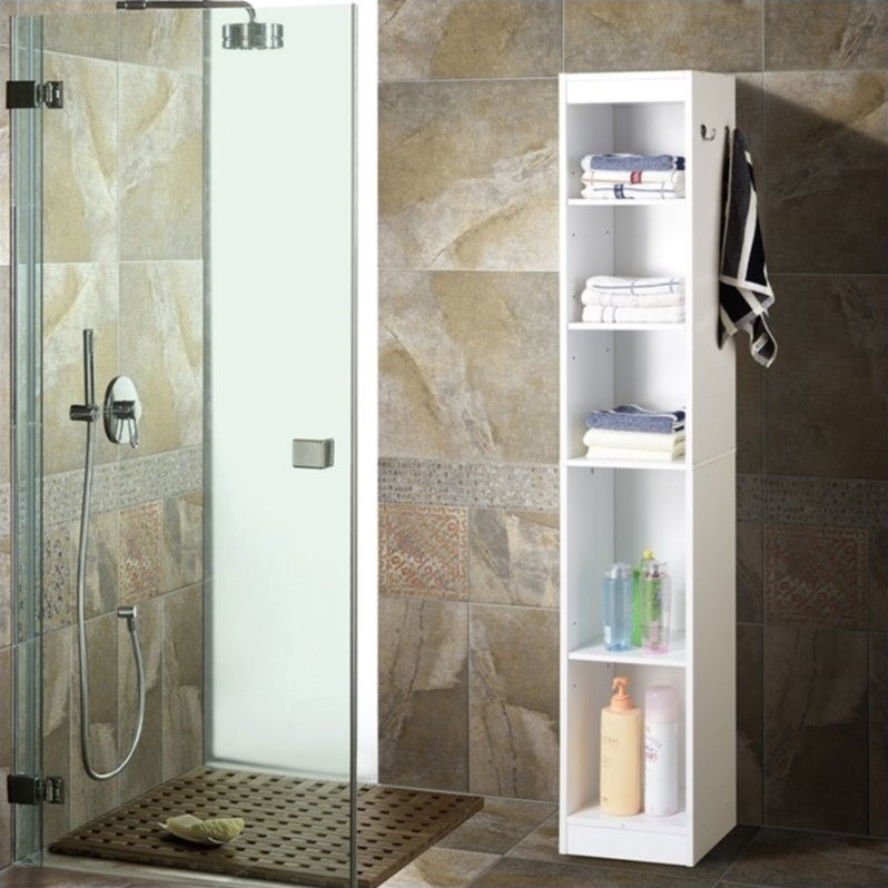Homestar Hall Collection Linen Tower White Bathroom Cabinet Ebay