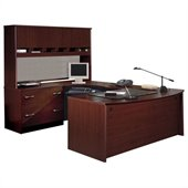 BBF Series C Executive U-Shape Wood Desk in Mahogany