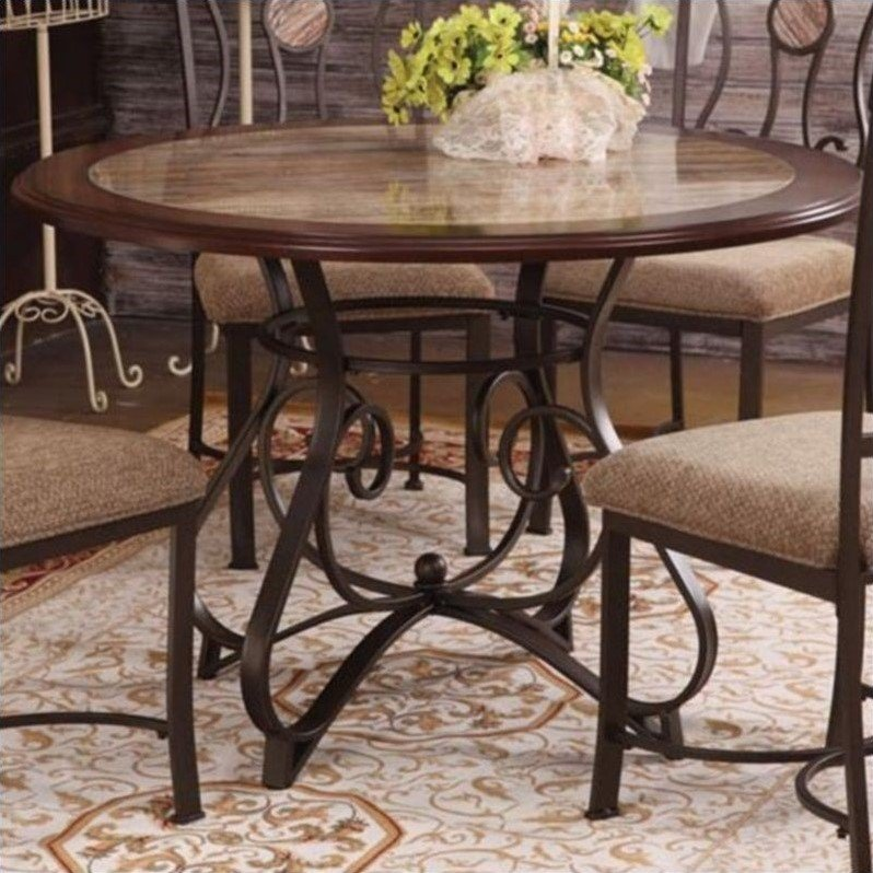 Cherry Dining Room Furniture: ACME Furniture Barrie Cherry Oak & Dark Bronze Dining