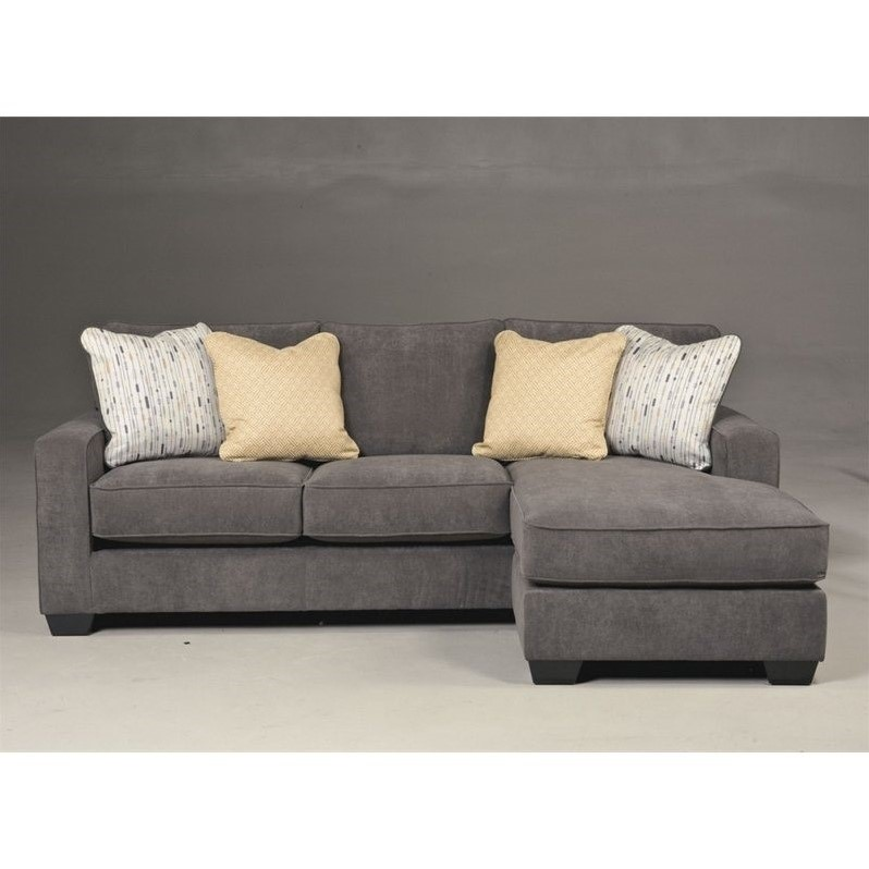 Ashley hodan microfiber sofa chaise marble sectional ebay for Ashley chaise sectional