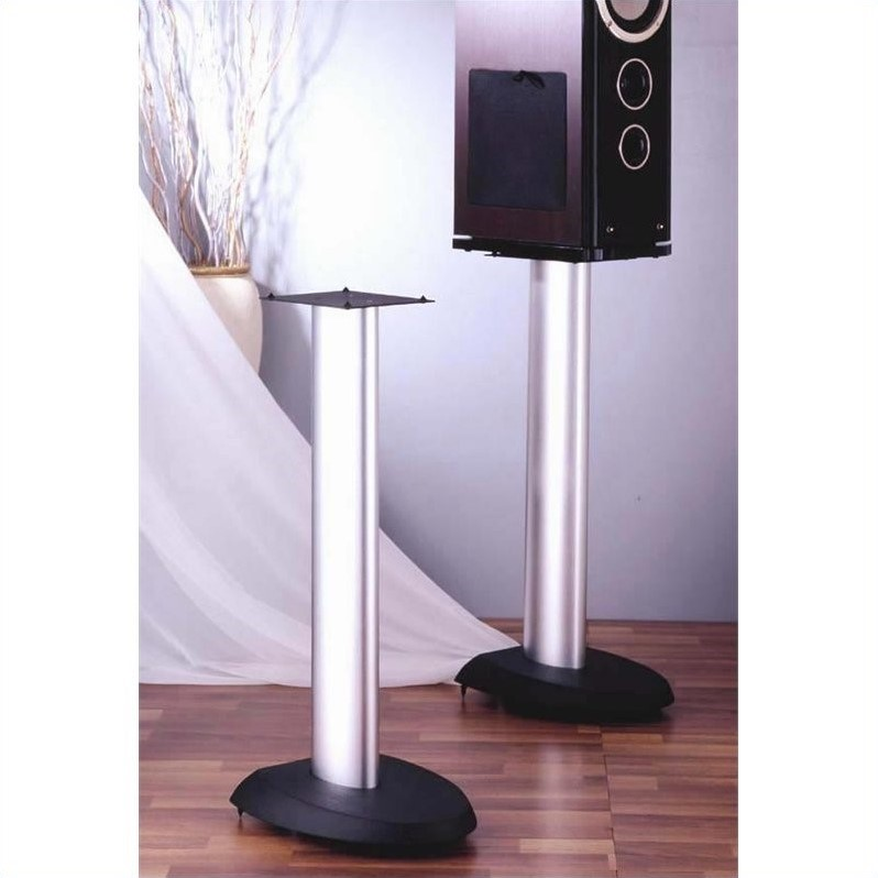 VTI VSP Series Aluminum Speaker Stand (Set of 2) - 24 inch H with Black,Silver Poles at Sears.com