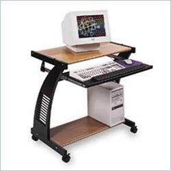 Luxor Metal / Wood Computer Workstation in Red Oak