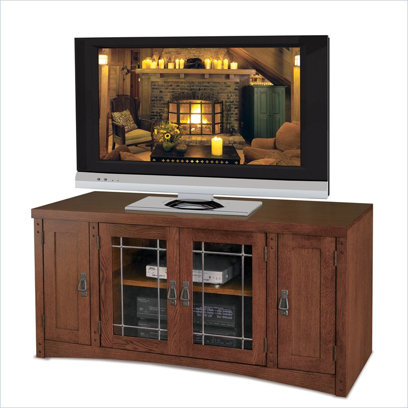 Kathy Ireland Home by Martin Furniture Pasadena Wood Plasma TV Stand in Mission Finish