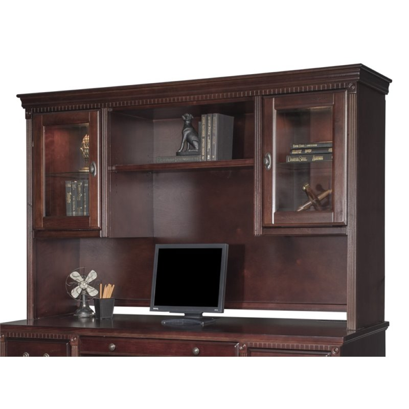 Martin Furniture Kathy Ireland by Martin Huntington Club Storage Hutch in Vibrant Cherry at Sears.com