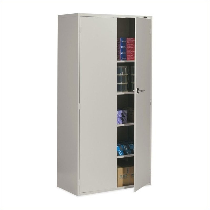 Global office 9300 series economy 72 vertical metal - Armoire plastique de rangement ...