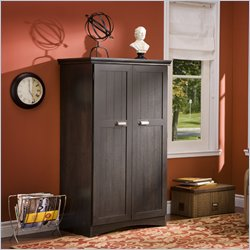 South Shore Gascony Computer Armoire in Dark Ebony