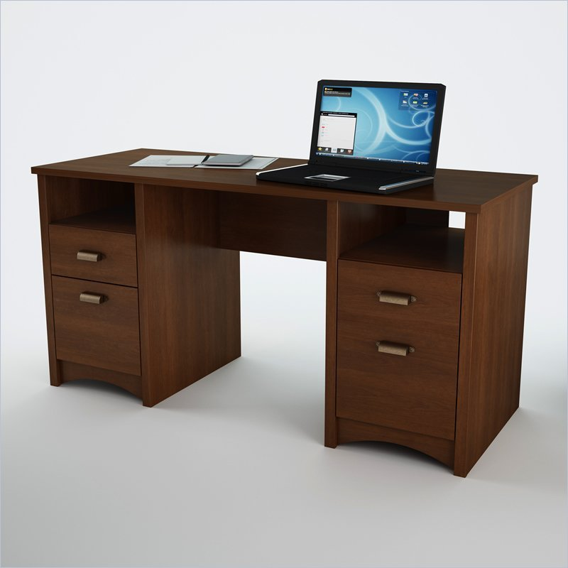South Shore Glasgow Wood Home Office Sumptuous Cherry