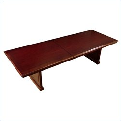 Mayline Toscana 12' Rectangular Conference Table with Slab Base