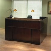 Mayline Sorrento Reception Desk with Marble Counter and Left Return